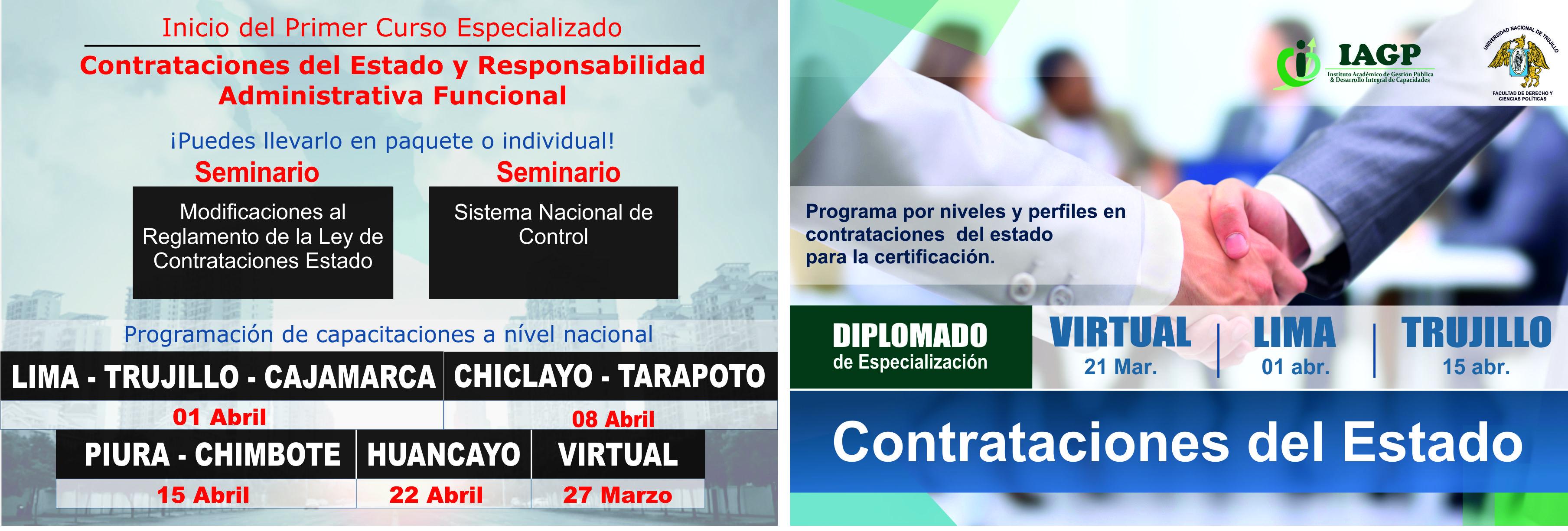 Diplomado de Especialización Contrataciones del Estado